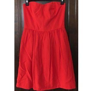 Loft Red Strapless Dress